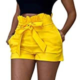 Pantalones Mujer Cortos Verano PAOLIAN Pantalones Sexy Vestir Fiesta Cintura Alta...