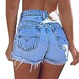 Pantalones Cortos de Jeans para Mujer Cintura Alta Slim Fit Pantalón Corto Elástico...