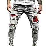2021 Nuevo Pantalones vaqueros para Hombre,Pantalones Casuales Moda Jeans rotos trend...