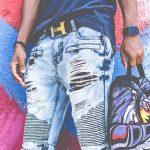 Pantalones rotos hombre
